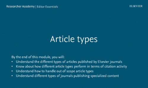 Article types