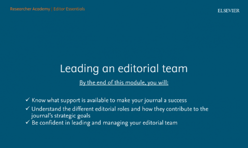 Building & managing an editorial team