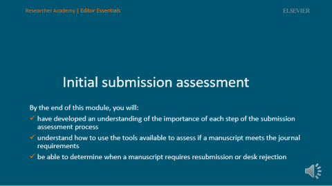 Initial submission assessment